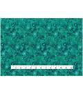 Keepsake Calico Cotton Fabric 43\u0027\u0027-Metallic & Teal Galaxy