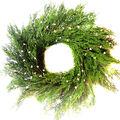 Handmade Holiday Christmas 24\u0027\u0027 Cypress & White Berry Wreath