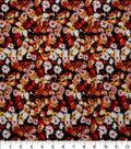 Harvest Cotton Fabric 44\u0022-Packed Mini Mums