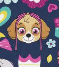 Nick Junior Paw Patrol Fleece Fabric 61\u0022-Girl Pup Floral