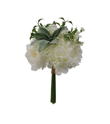 Fresh Picked Spring 13'' Peony, Hydrangea & Baby's Breath Bouquet