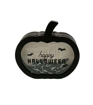 Maker's Halloween Shaker Word Block-Bats & Happy Halloween