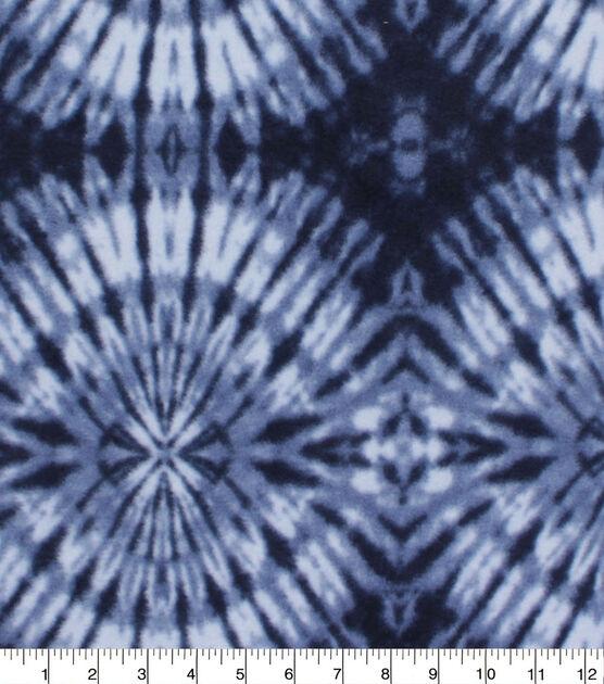 Anti Pill Plush Fleece Fabric Tonal Navy Tie Dye, , hi-res, image 1