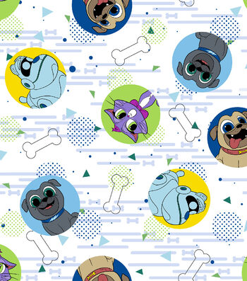 Disney Junior Puppy Dog Pals Cotton Fabric