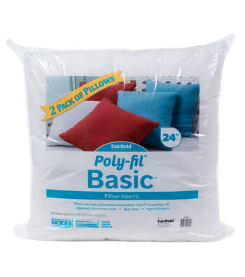 Poly-Fil Basic 2 pk 24''x24'' Pillow Inserts