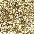 Glass Seed Beads-Gold, 8/0, 7 grams