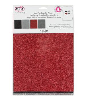 Tulip Fashion Glitter Iron-On Shimmer Transfer Sheets Twilight