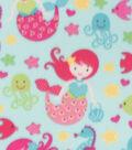 Blizzard Fleece Fabric-Mermaid Print