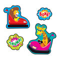 Bumper Blast-Root Beer Mixed Shapes Stinky Stickers 64 Per Pack, 6 Packs
