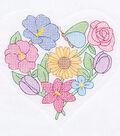 Jack Dempsey Needle Art 6 pk 18\u0027\u0027x18\u0027\u0027 Quilt Blocks-Flowers & Hearts