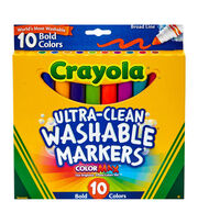 Crayola Ultra-Clean Color Max Broad Line Washable Markers-Bold Colors, , hi-res