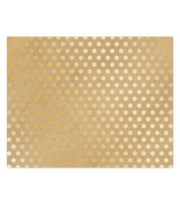 Poster Board-Kraft Gold Dot