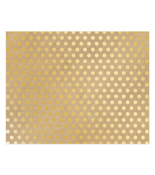 American Crafts 22''x28'' Poster Board-Gold Dots on Kraft