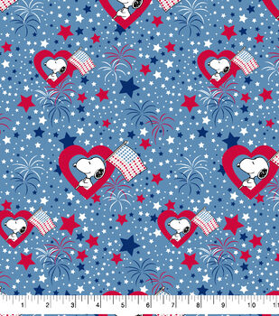 Peanuts Snoopy Cotton Fabric-Patriotic Fun