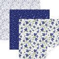 Cricut 12\u0027\u0027x12\u0027\u0027 Removable Matte Patterned Vinyl Samplers-Blue In Bloom