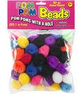 Pepperell Braiding 50 pk Pom Pom Beads with a Hole