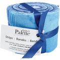 Quilter\u0027s Palette Jellies 2.5\u0027\u0027X42\u0027\u0027 20/Pkg-Fluid Textures - Blue
