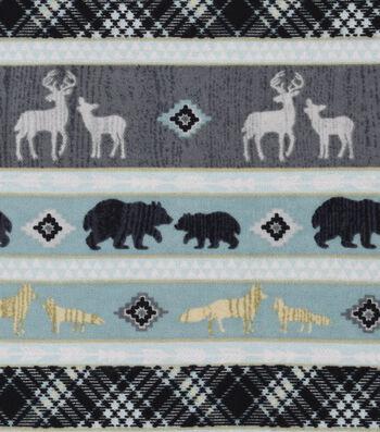 """Nursery Flannel Fabric 42""""-Stripes"""