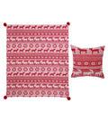 Maker\u0027s Holiday Christmas Pillow & Throw Set-Red Fair Isle