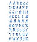 Sticko Small 161 pk Brush Stroke Alphabet Stickers-Blue