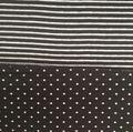 Fashion Knit Fabric -Black Dots