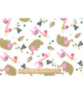Snuggle Flannel Fabric -Baby Zoo Friends