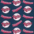 Minnesota Twins Cotton Fabric -Logo