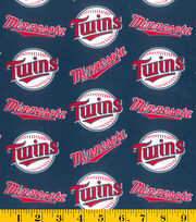 Minnesota Twins Cotton Fabric 58''-Logo, , hi-res