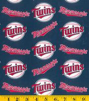 Minnesota Twins Cotton Fabric -Logo, , hi-res