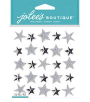 Jolee's Boutique Repeat Stickers-Silver Star, , hi-res