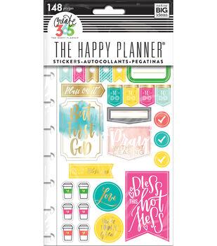 Happy Planner Stickers 5/Sheets -Faith Gratitude-Classic