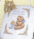 Sweet Prayer Stamped Cross Stitch Quilt Kit-34\u0022x43\u0022