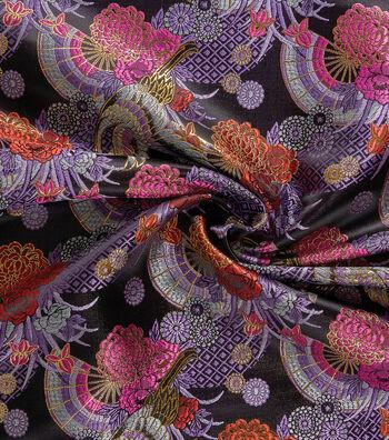 Yaya Han Cosplay Brocade Fabric 58''-Purple Kyoto Garden