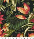 Tommy Bahama Outdoor Fabric 9\u0022x9\u0022 Swatch-Botanical Glow Ebony