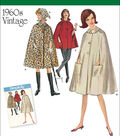 Simplicity Patterns Us8017R5-Simplicity Misses\u0027 Vintage 1960\u0027S Cape In Two Lengths-14-16-18-20-22
