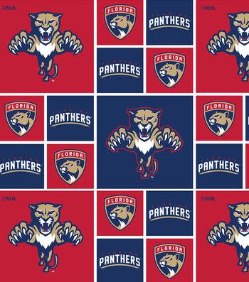 Florida Panthers Cotton Fabric 43''-Block