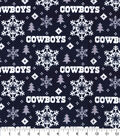 Dallas Cowboys Christmas Flannel Fabric-Holiday
