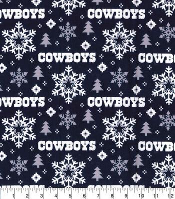 """Dallas Cowboys Flannel Fabric 42""""-Holiday"""