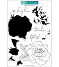 Concord & 9th 9 pk Clear Stamps-Painted Rose
