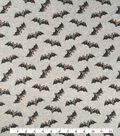 Halloween Cotton Interlock Fabric 57\u0022-Gray & Black Bats