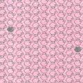 Nursery Flannel Fabric-Little Lamb Coral