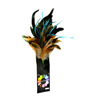 """Bloom Room 11"""" Feather Floral Spray-Naturals"""