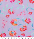 Anti-Pill Fleece Fabric -Enjoy The Little Things Floral
