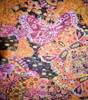 Fast Fashion Yoryu Chiffon Fabric-Multi Butterflies