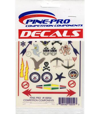 """Pine Car Derby Decal 4""""X5""""-Anchors Aweigh"""