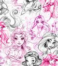 Disney Fleece Fabric 59\u0022-Princess Sketch