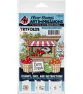 Art Impressions Bonnie Krebs Mini TryFolds Stamp & Die Set-Produce Stand