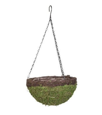 In the Garden 14'' Round Moss Hanging Basket
