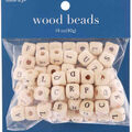 hildie & jo 14 oz. Wood Beads-Alphabet