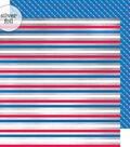 Yankee Doodle Foiled Cardstock 12\u0022X12\u0022-Stripes